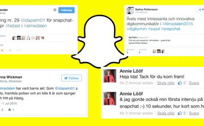 Snapchat i Almedalen