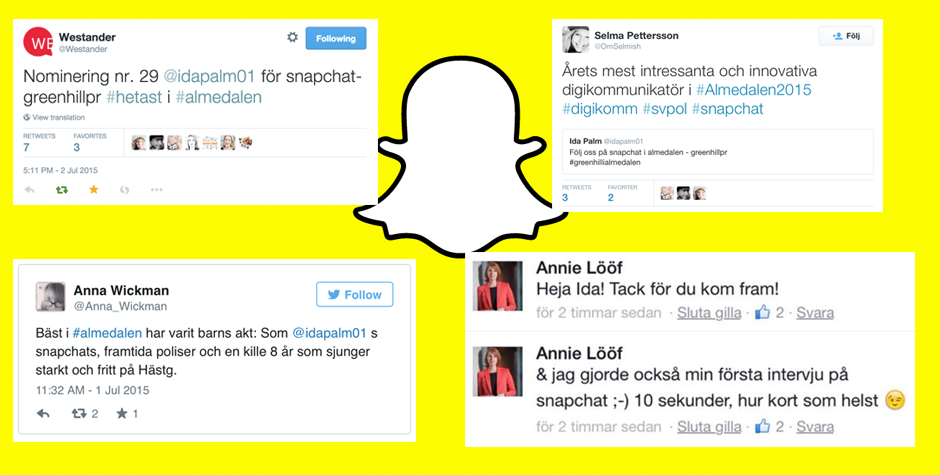 Så intervjuar man makthavare på Snapchat